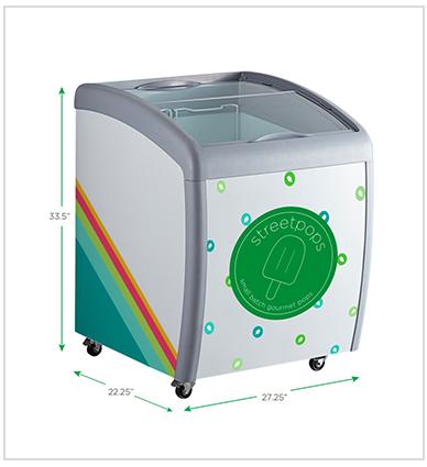 attractive streetpops display freezer for wholesale